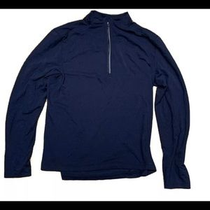 Men's Lululemon 1/4 Navy Blue Zip—medium